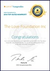 Great Nonprofits Top-rated 2014 The Love Foundation Certificate