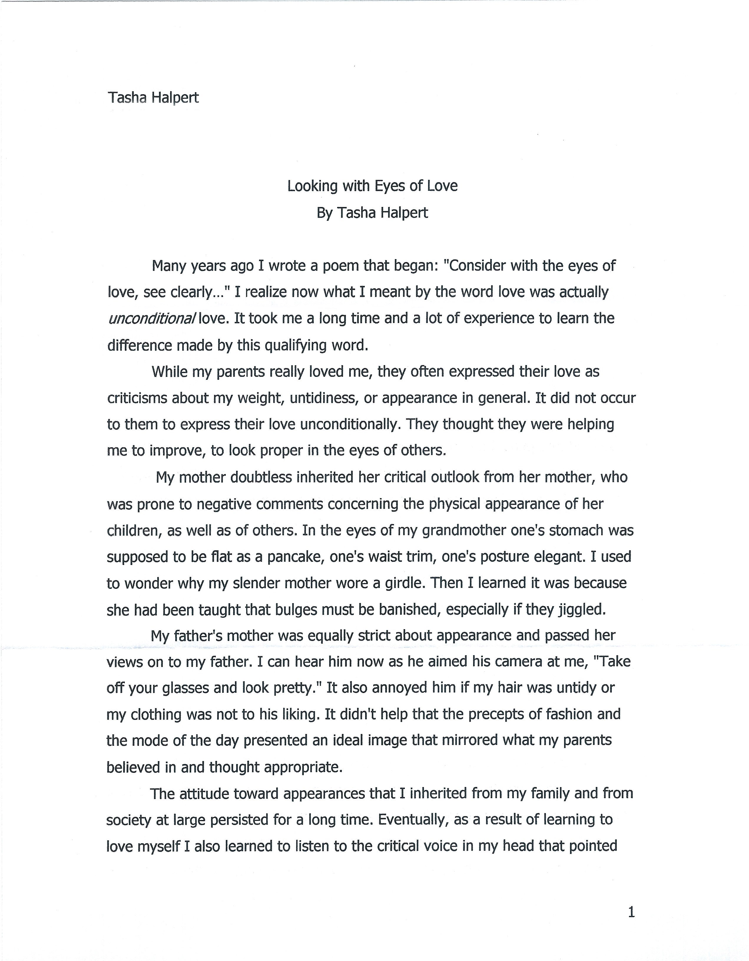 Essay for love